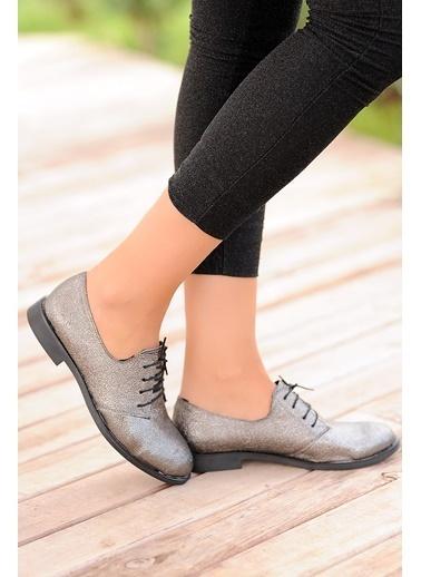 Pembe Potin Ayakkabı Gümüş